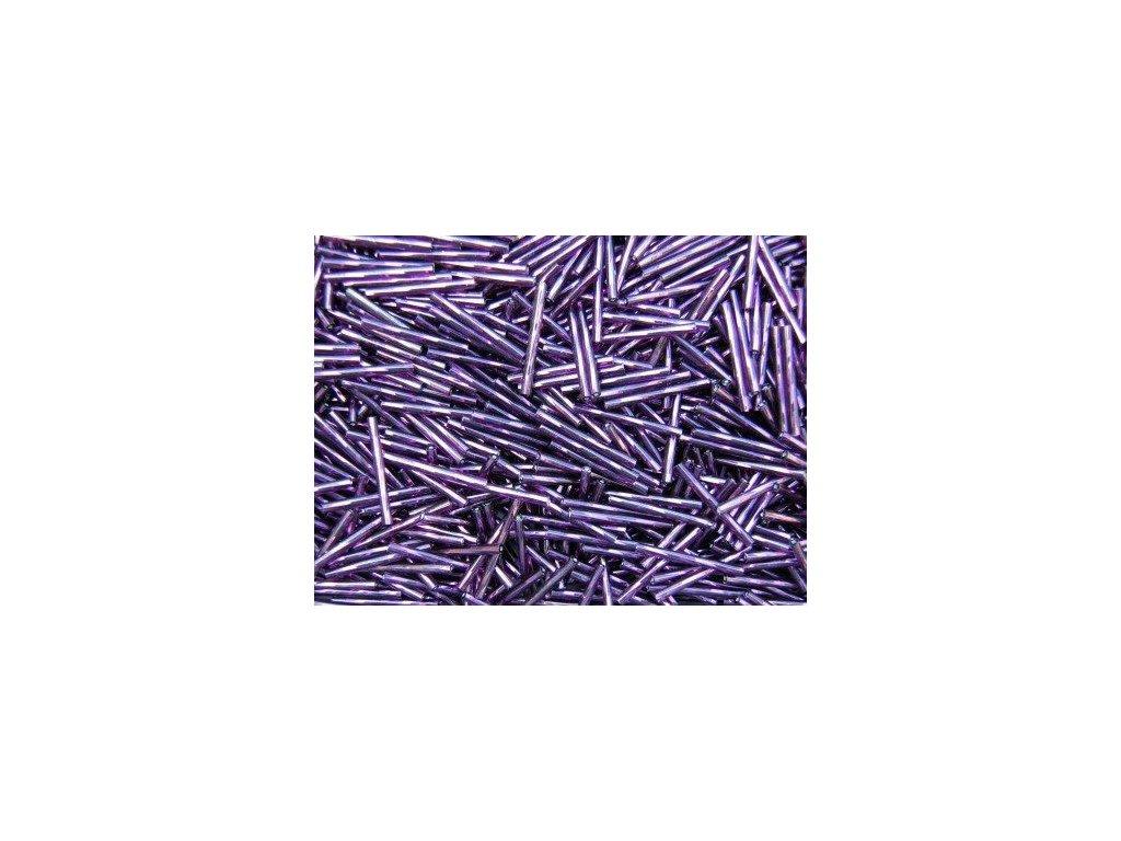 Korálky - rokajlové tyčky 35 mm - tmavě fialové točené 27060 (T23)