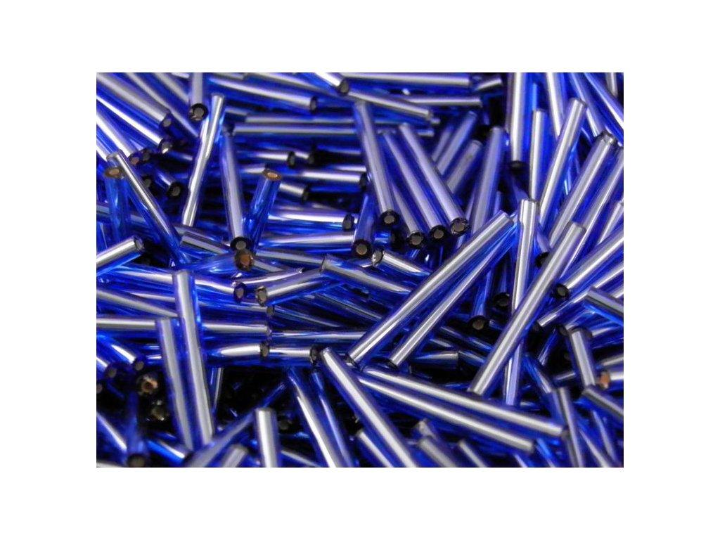 Korálky - rokajlové tyčky 15 mm - transparentní modré 60300 (T11)