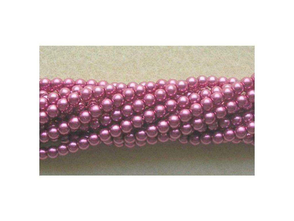Korálky - voskované perle (70420) 3 mm