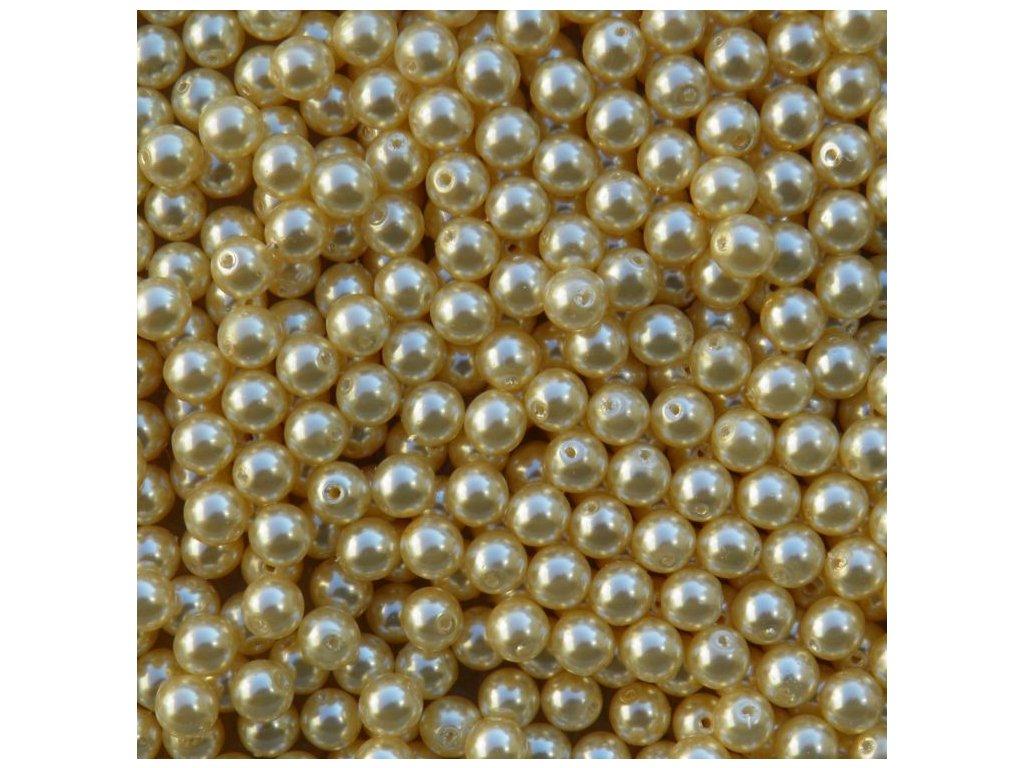 Korálky - voskované perle (12143) 6 mm