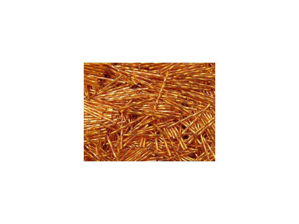 Korálky - rokajlové tyčky 25 mm - oranžové točené 97000 (T25)