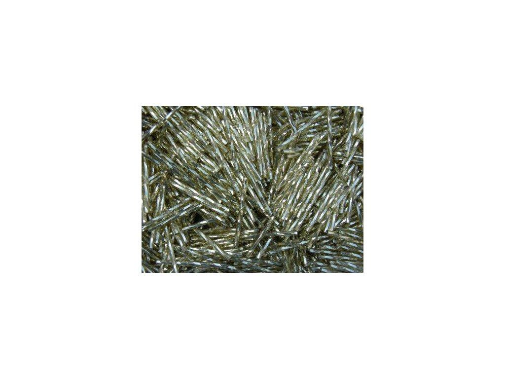 Korálky - rokajlové tyčky 20 mm - zlaté točené 17020 (T31) 50 ks