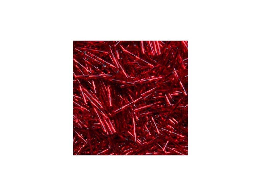 Korálky - rokajlové tyčky 25 mm - tmavé červené točené 97090 (T27)