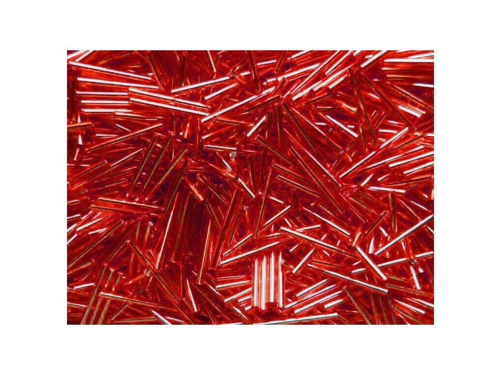 Korálky - rokajlové tyčky 25 mm - červené rovné 97070 (T10)