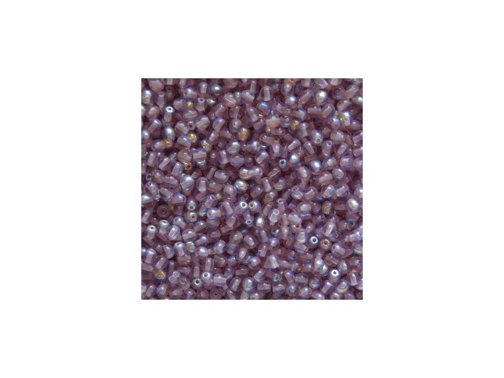Korálky mačkané - kulička 4 mm - 20040/28701 amethyst AB