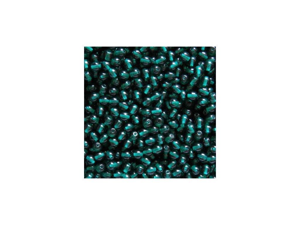 Korálky mačkané - kulička 5 mm - 50730 zelená