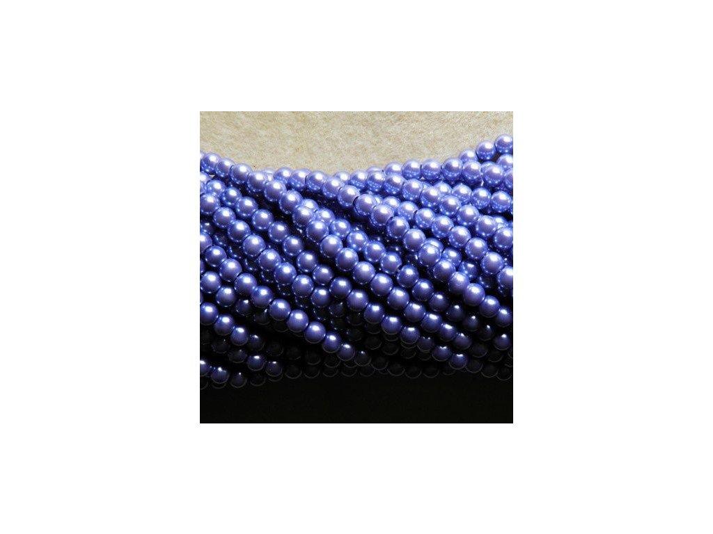 Korálky - voskované perle 6 mm lila (DOVOZ)