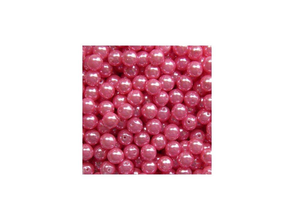 Korálky - voskované perle (13757) 6 mm