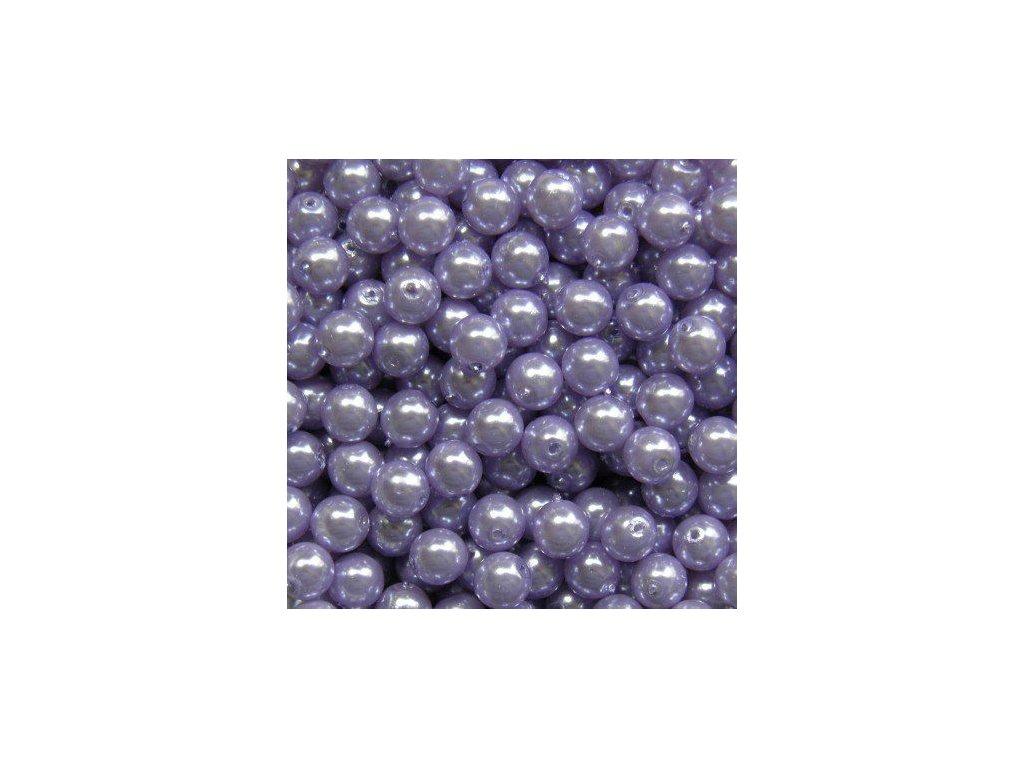 Korálky - voskované perle (13236) 6 mm