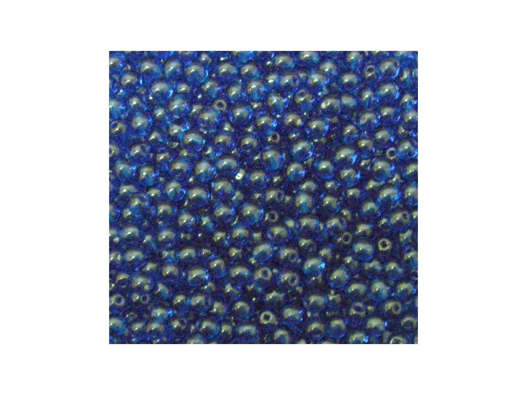 Korálky mačkané - kulička 4 mm - 60080 tmavá aqua