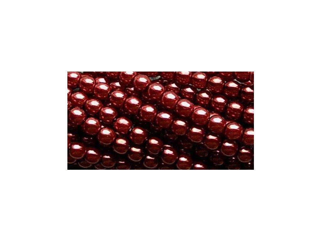 Korálky - voskované perle (70499) 4 mm