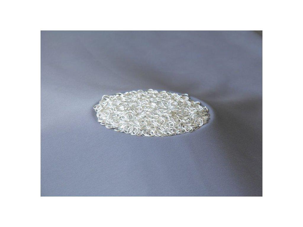 Bižuterní komponenty - spojovací kroužek stříbrný 8 mm