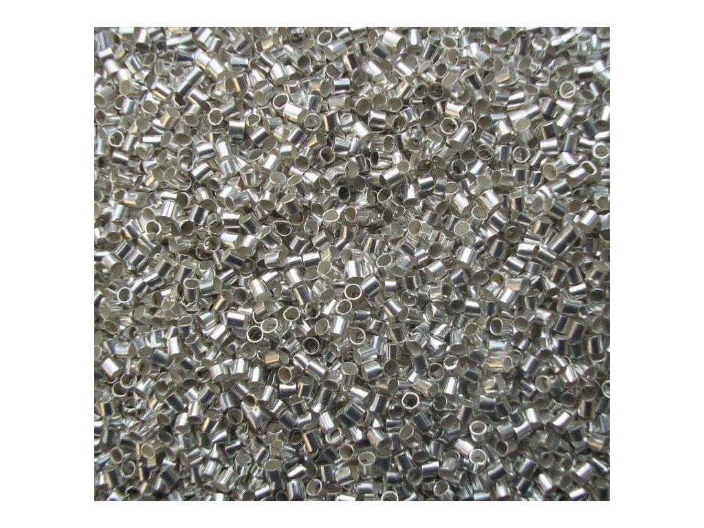 Zamačkávací rokajl - sekaný 1,5 stříbrný