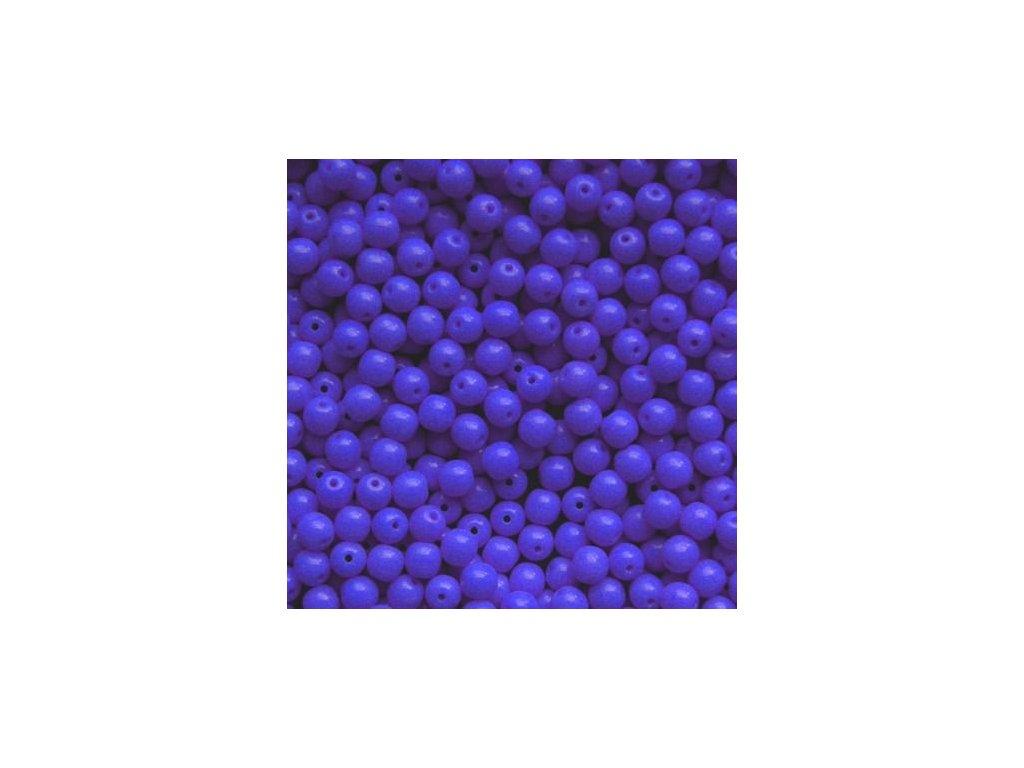 Korálky mačkané - kulička 5 mm - 33040 modrá