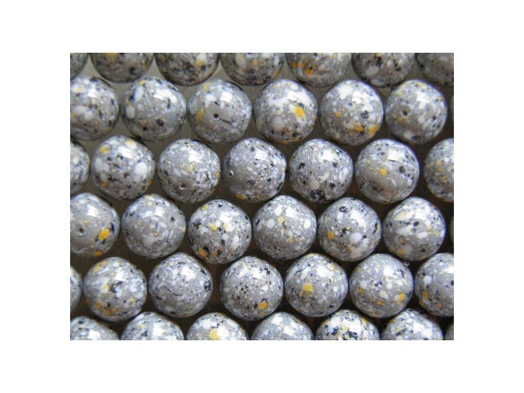 Korálky mačkané - MKL025 - kulička 16 mm - žula