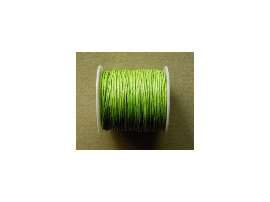Bavlněná voskovaná šňůrka světle zelená