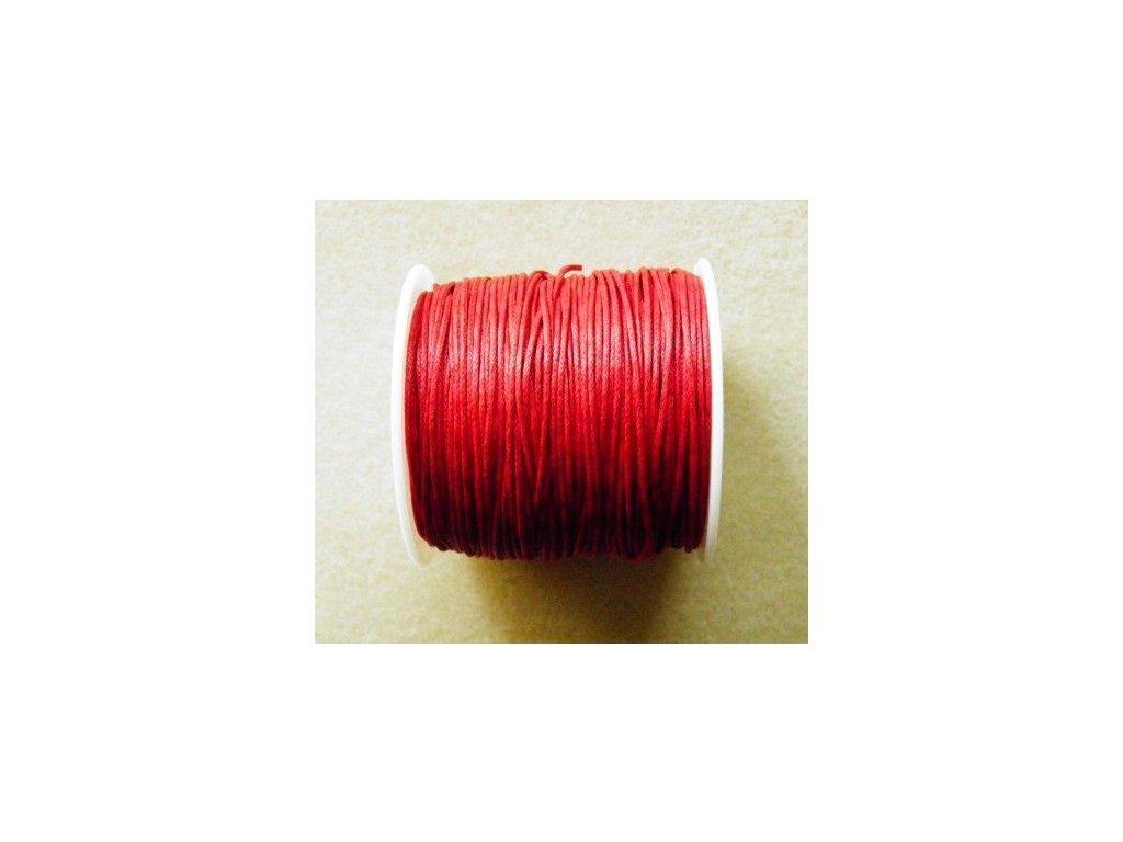 Bavlněná voskovaná šňůrka tmavě červená