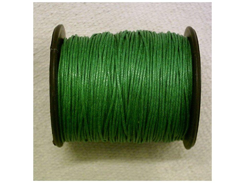 Bavlněná voskovaná zelená