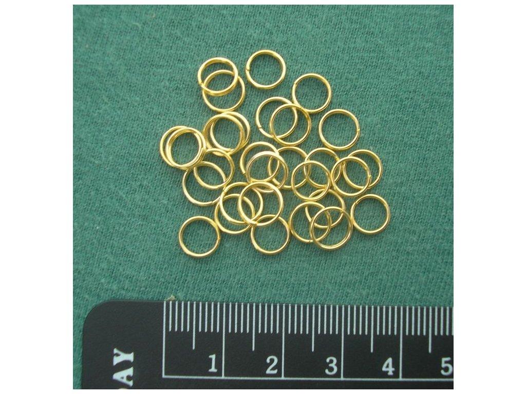 Bižuterní komponenty - dvojkroužek zlatý 7 mm