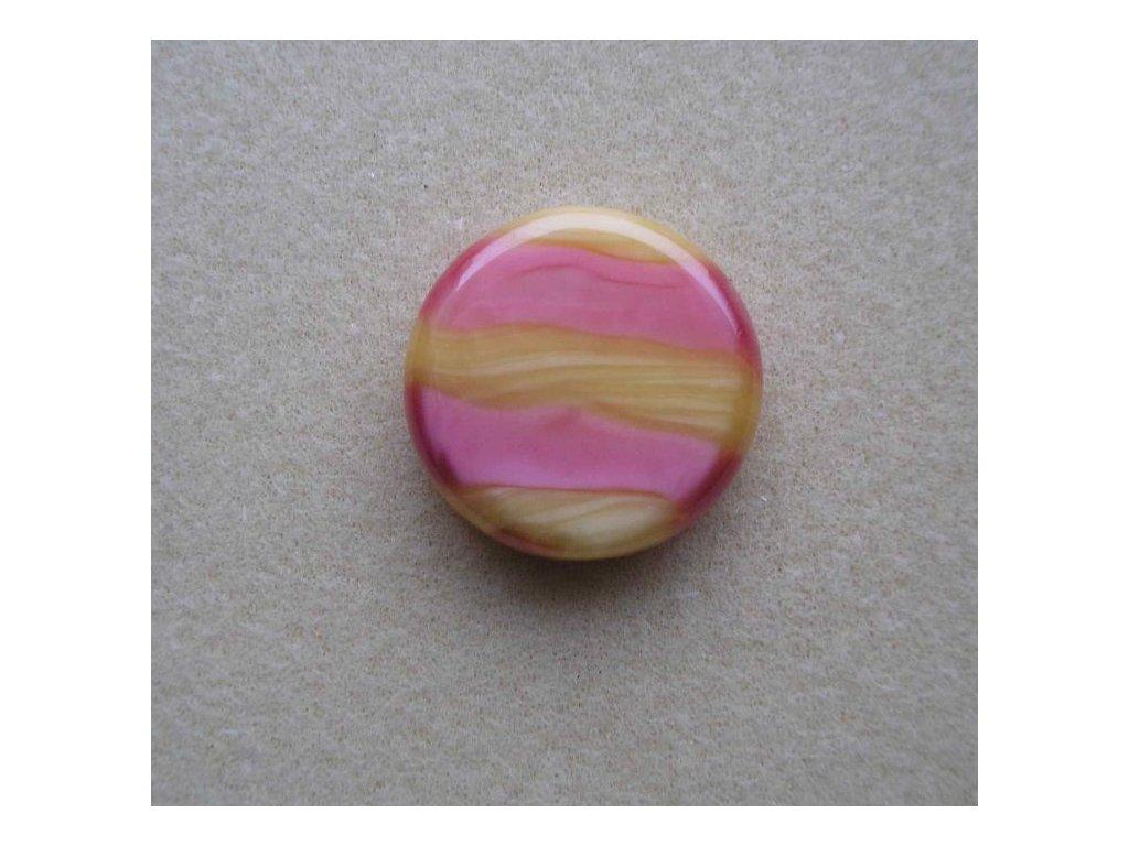 Placička žluto-růžově žíhaná