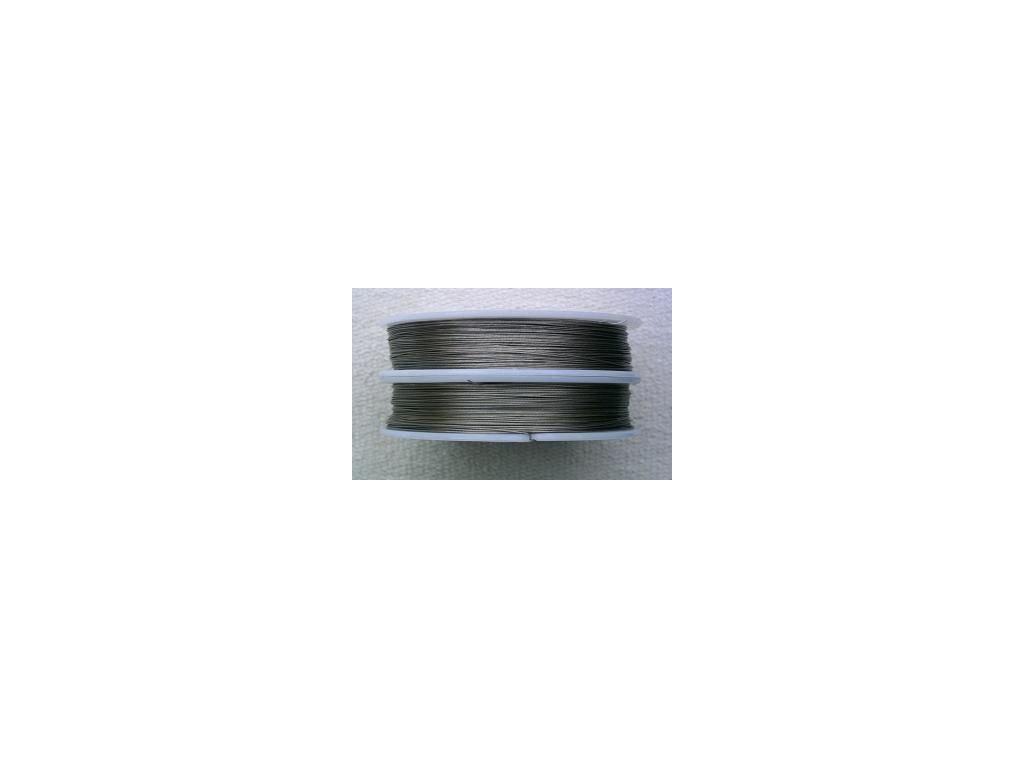 Nylonové lanko stříbrné 0,38 mm