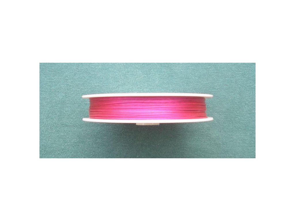 Nylonové lanko růžové 0,38 mm