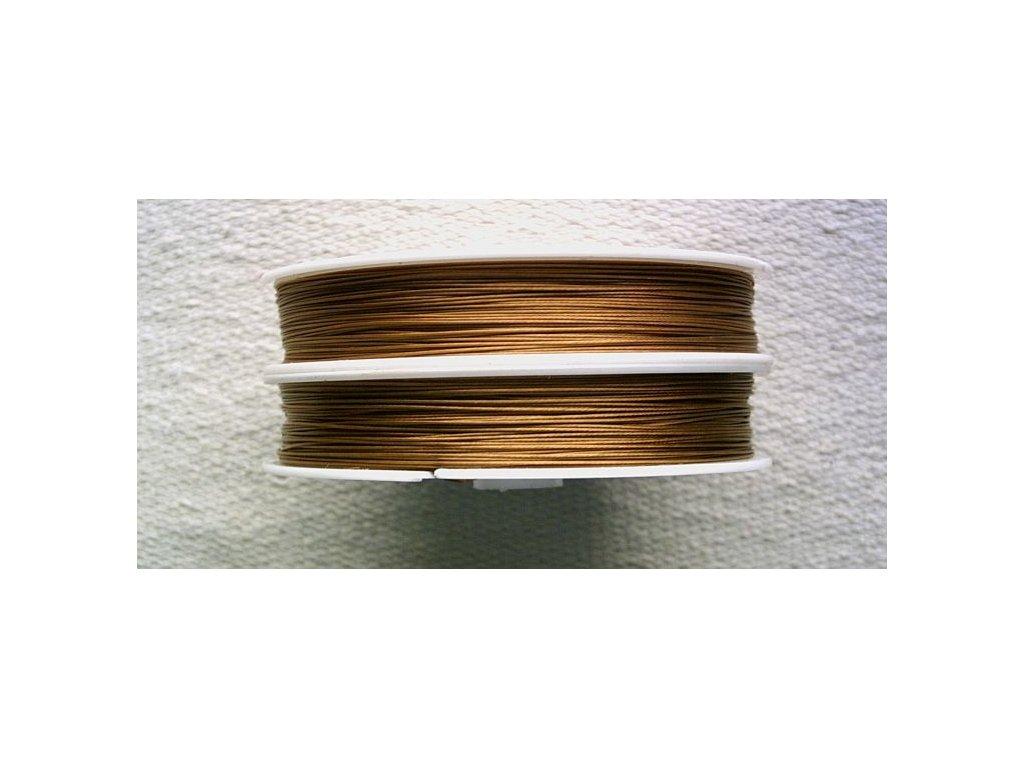 Nylonové lanko hnědé - 0,45 mm