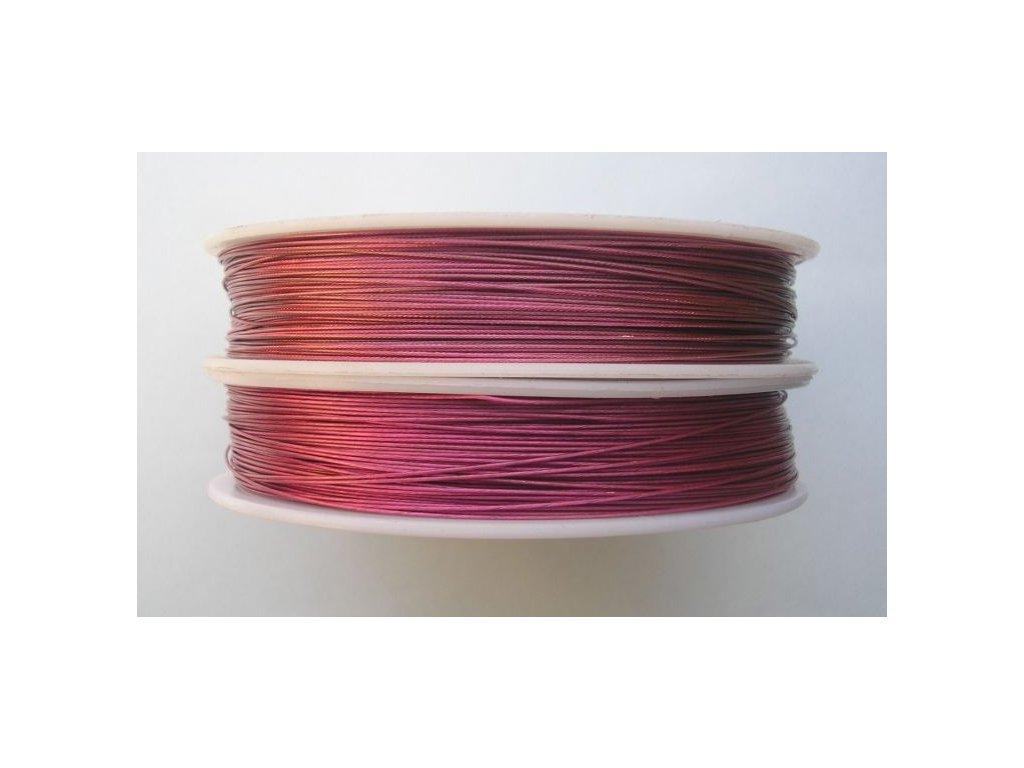 Nylonové lanko růžové - 0,45 mm