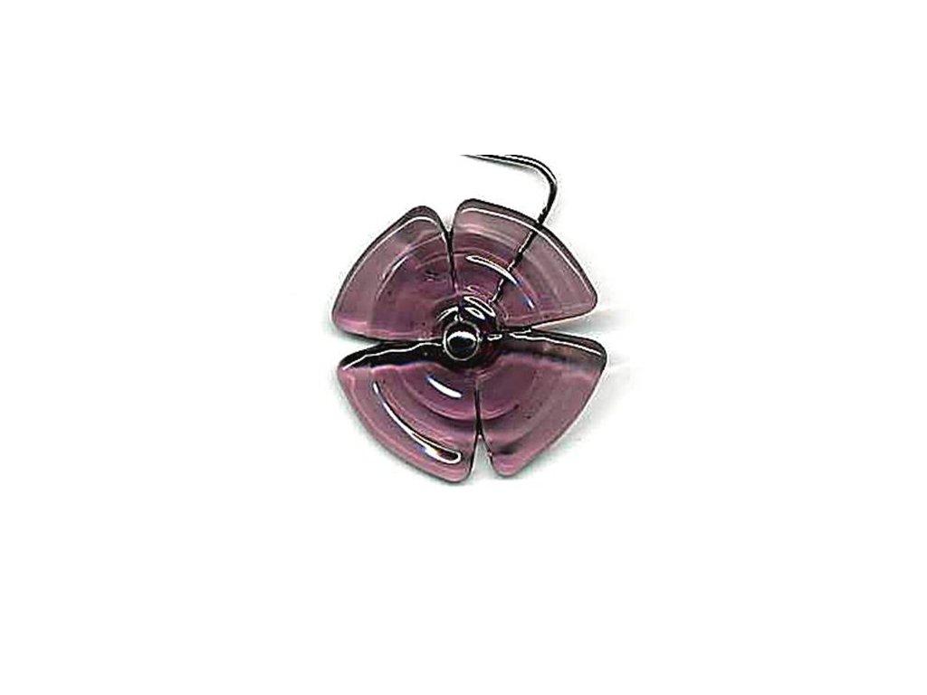 Vějířek stříhaný fialový (čtyřlístek)