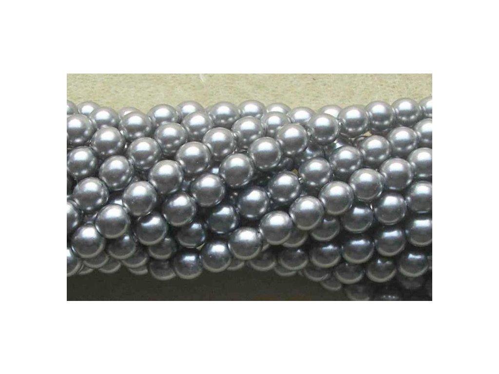 Korálky - voskované perle (70444) 4 mm