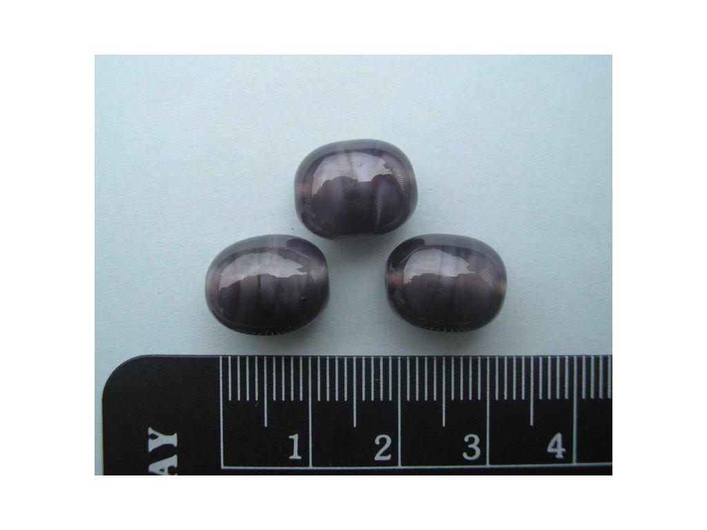 Vinutá perla - oblázek malý šedý