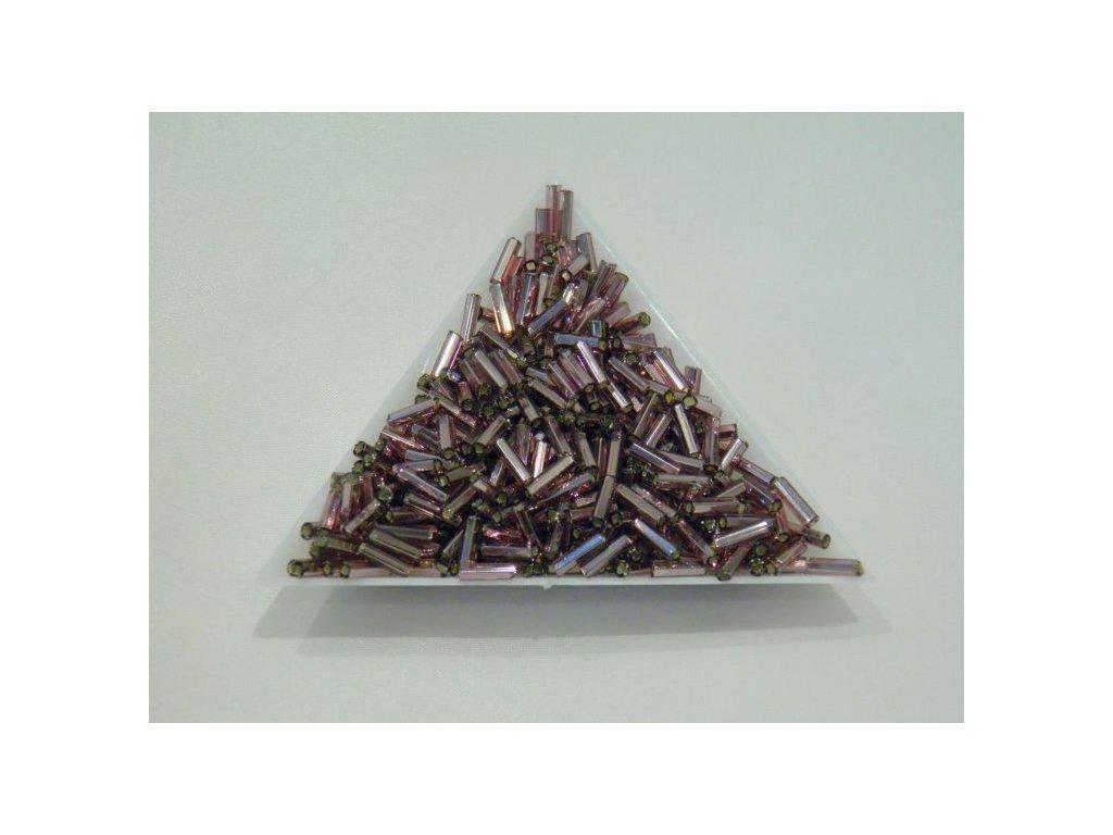 Korálky - rokajlové trubičky - světle fialové 6,5 mm