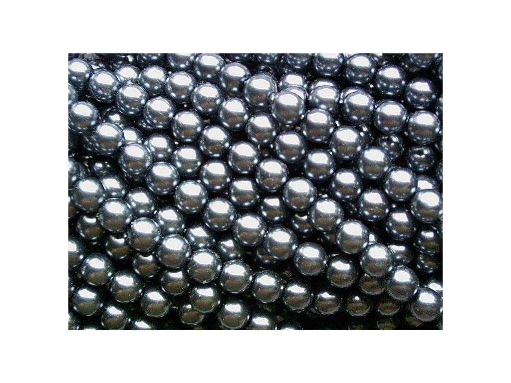 Korálky - voskované perle (70448) 8 mm