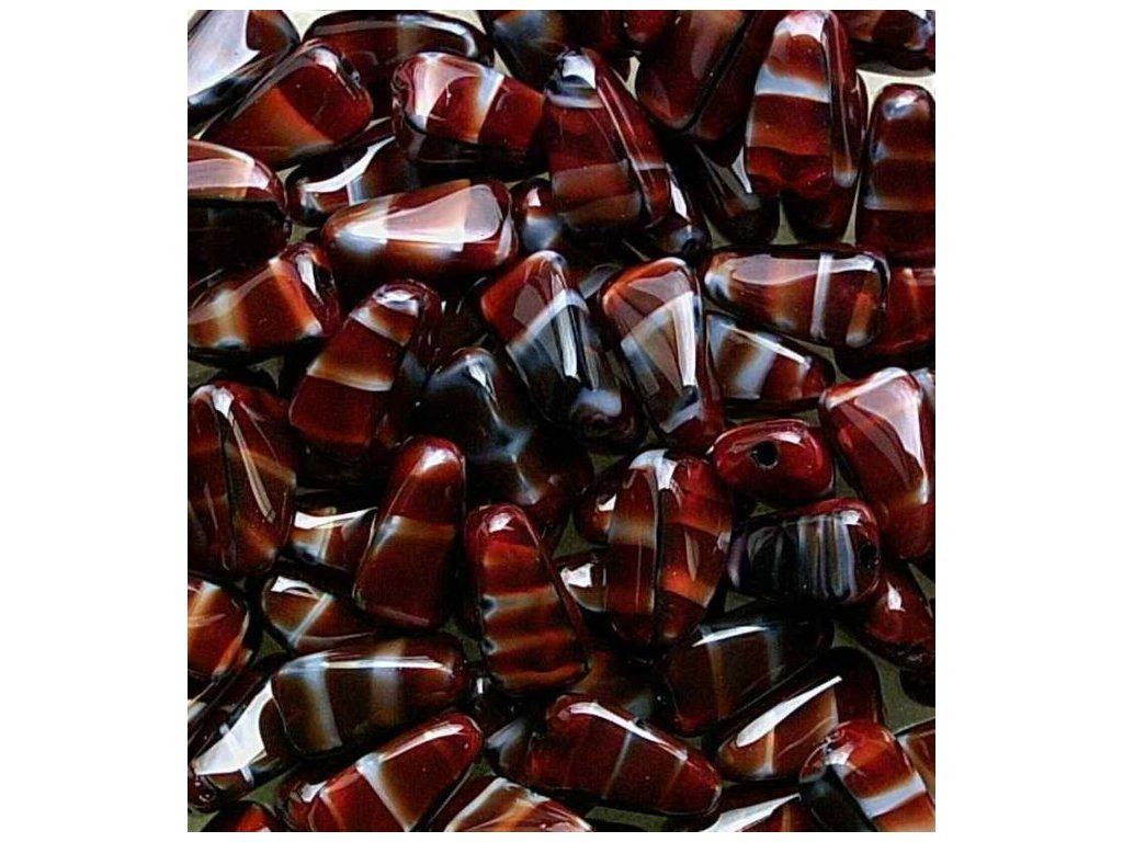 Korálky mačkané - oliva 26907