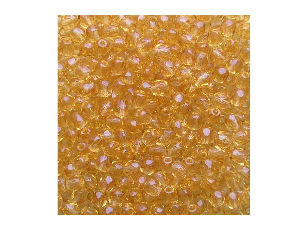 Korálky broušené - ohňovka 4 mm 10040