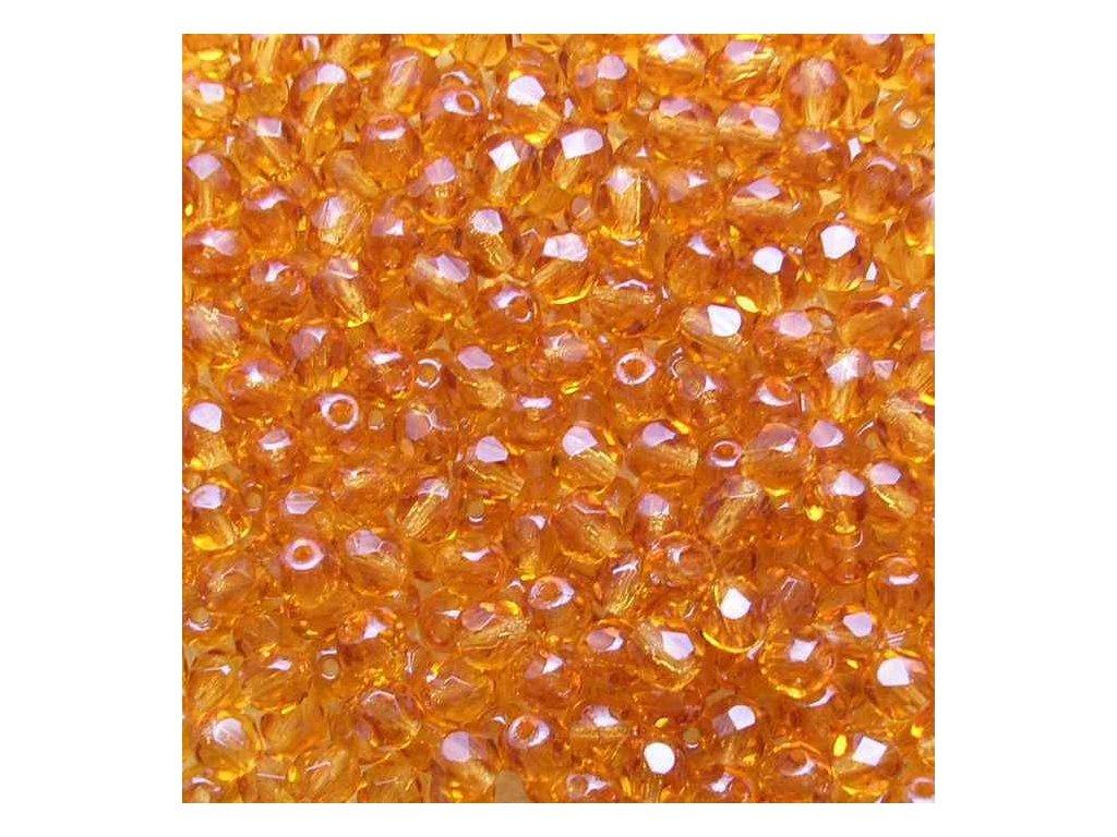 Korálky broušené - ohňovka 4 mm 10090