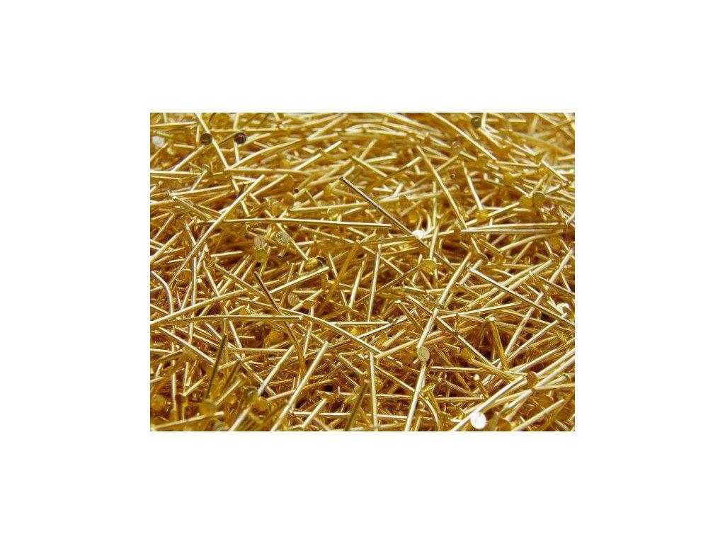 Ketlovací nýt zlatý 16 mm - 2. jakost