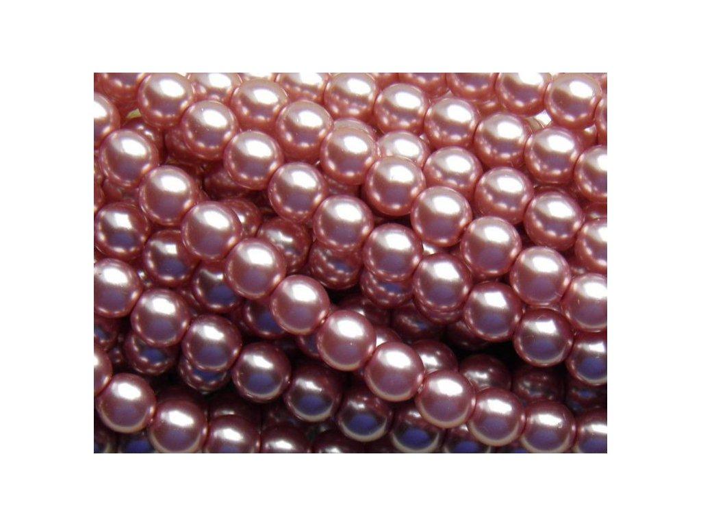 Korálky - voskované perle (70488) 6 mm