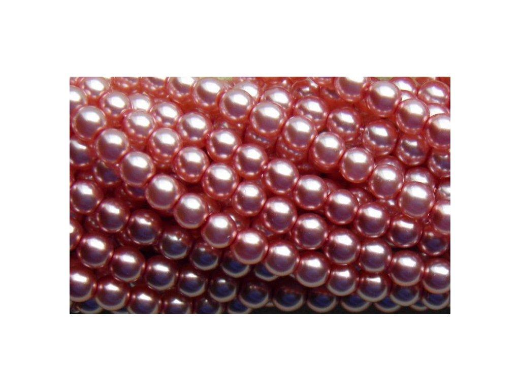 Korálky - voskované perle (70417) 5 mm