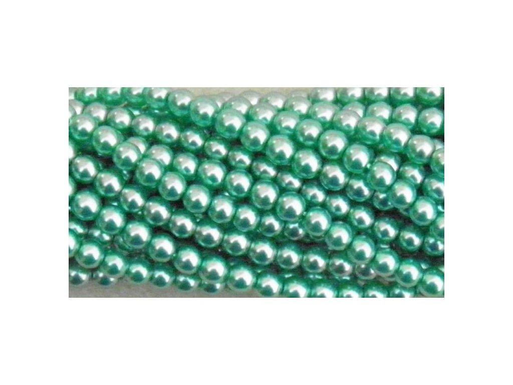 Korálky - voskované perle (70455) 4 mm