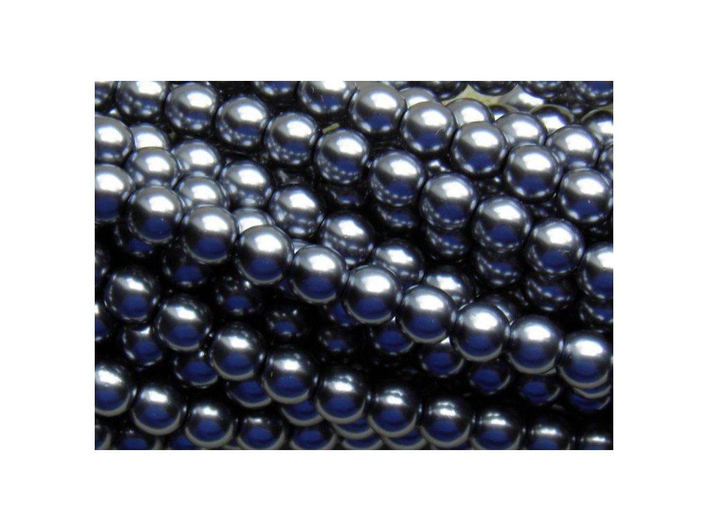 Korálky - voskované perle (70448) 5 mm