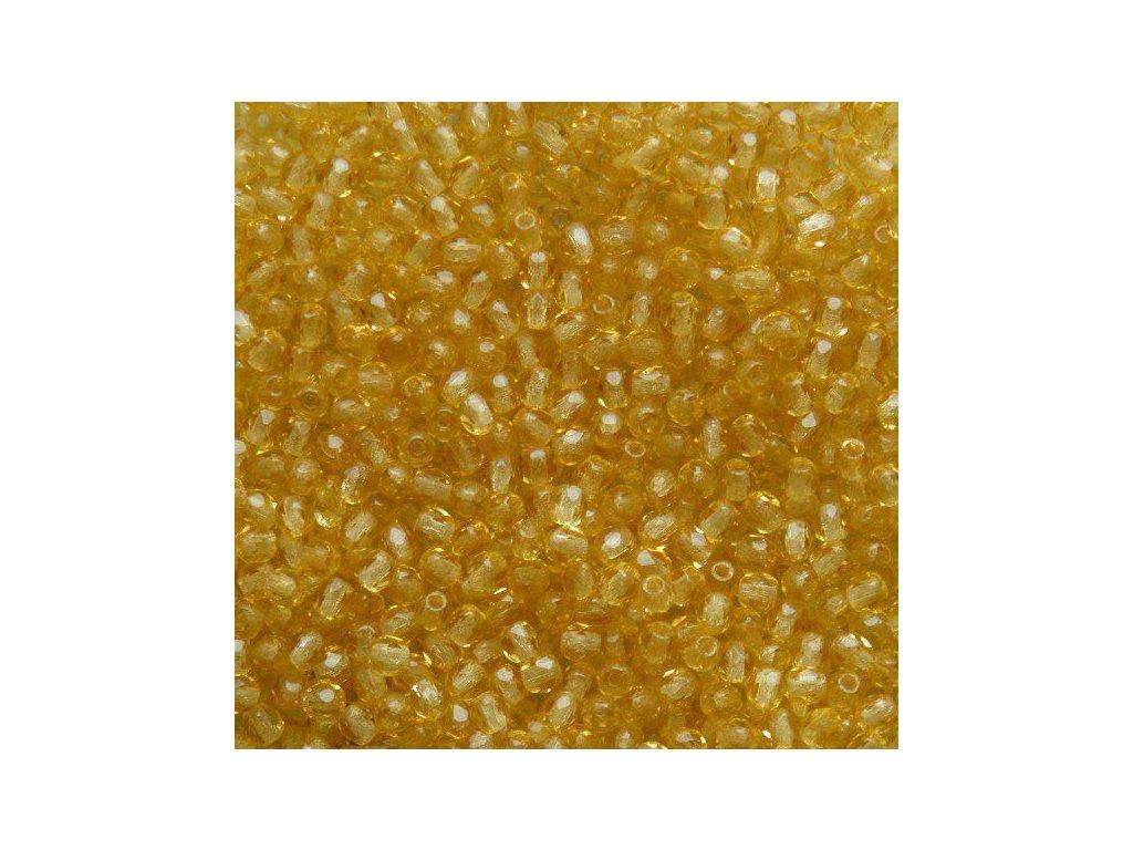 Korálky broušené - ohňovka 3 mm 10040