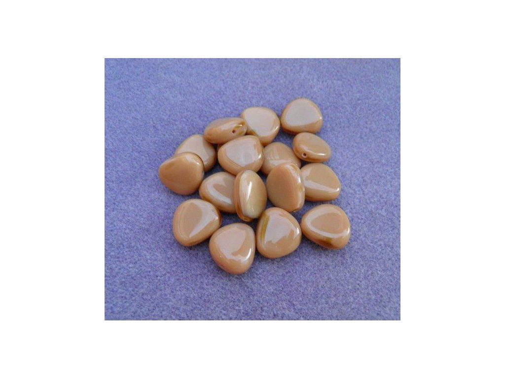 Korálky mačkané - MKL034 - oblázek hnědý