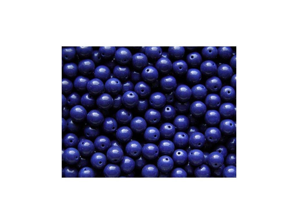 Korálky mačkané - kulička 6 mm - 33400 sytá tmavá modro-fialová