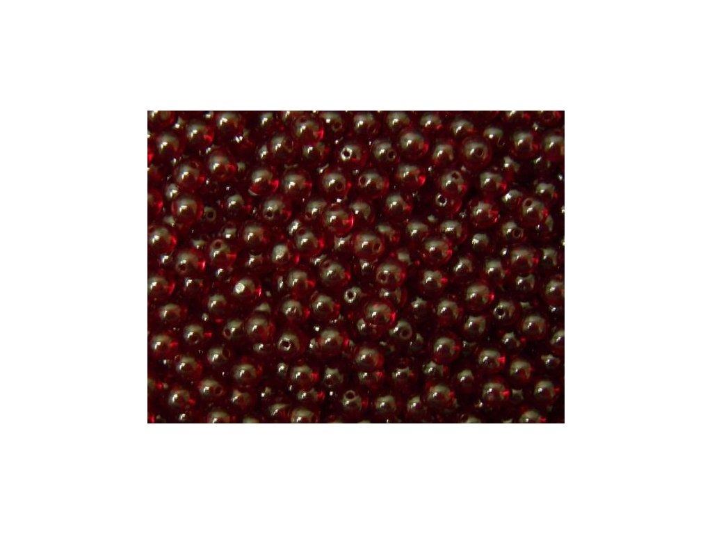 Korálky mačkané - kulička 7 mm - 90090 tmavá červená