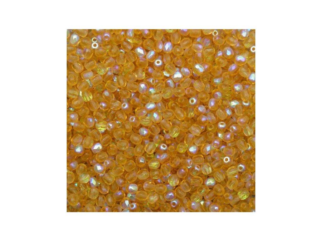 Korálky broušené - ohňovka 3 mm 10040/28701