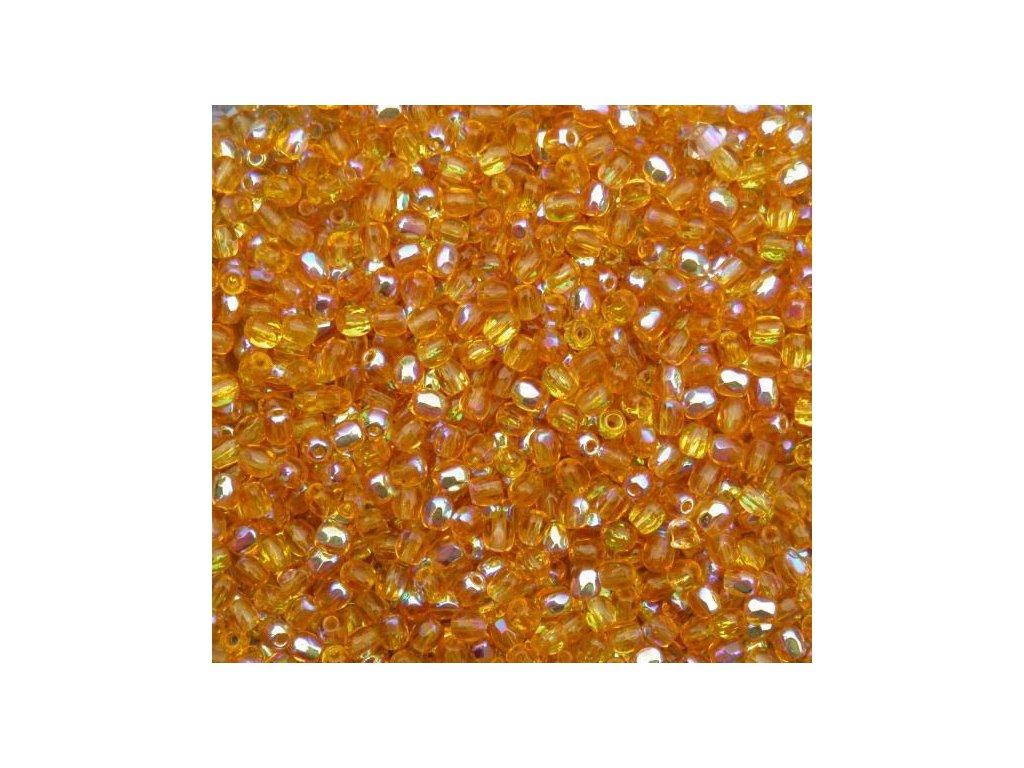 Korálky broušené - ohňovka 3 mm 10050/28701
