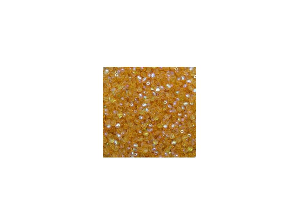 Korálky broušené - ohňovka 3 mm 10050/28701 - 50 ks