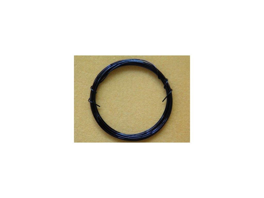 Barevný drátek 1 mm - barva tmavě modrá