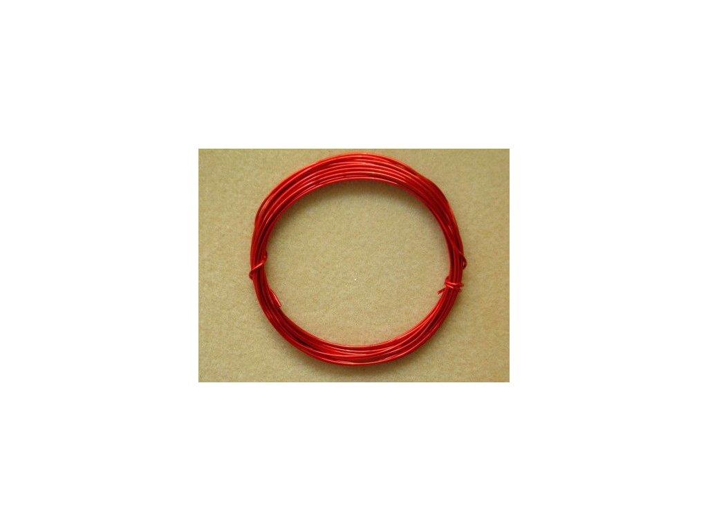 Barevný drátek 1 mm - barva červená